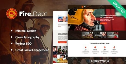 ThemeForest - Fire Department v2.0.2 - FD Station and Security WordPress Theme - 14510793
