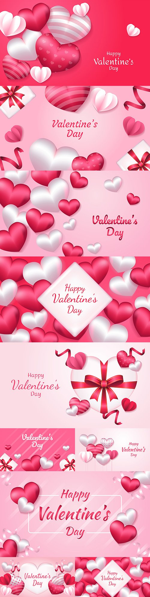Happy Valentine's Day romantic decorative illustrations 39