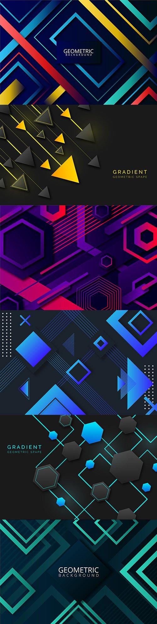 Bright geometrical modern background gradient 3