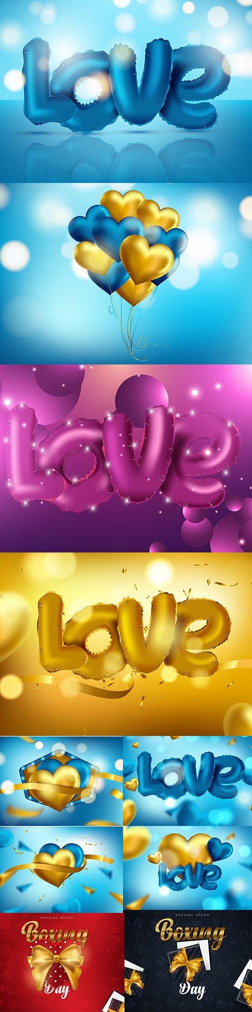 Set of Romantic Valentines Day Illustrations Vol 13