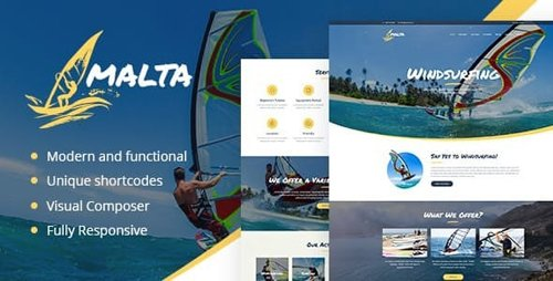 ThemeForest - Malta v1.1.2 - Windsurfing, Kitesurfing & Wakesurfing Center WordPress Theme - 19259924