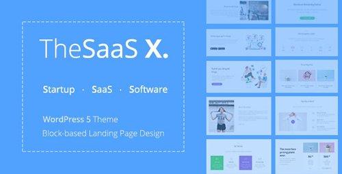 ThemeForest - TheSaaS X v1.1.4 - Responsive SaaS, Startup & Business WordPress Theme - 20136366
