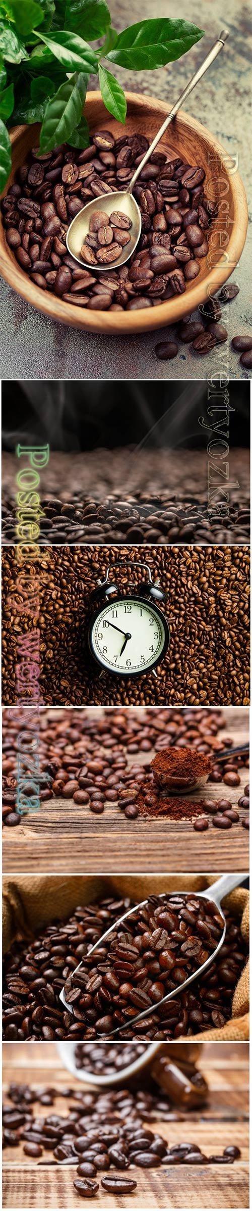Fresh coffee beautiful stock photo