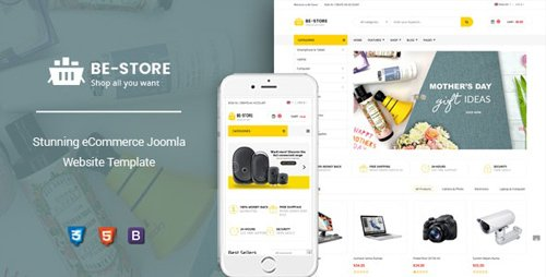 ThemeForest - BeStore v1.0.0 - Multipurpose Joomla 3.9.6 eCommerce Template - 23916768