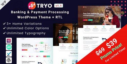 ThemeForest - Tryo v1.0 - Banking & Payment WordPress Theme - 25014916