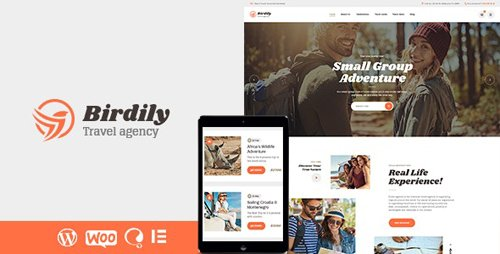ThemeForest - Birdily v1.0.1 - Travel Agency & Tour Booking WordPress Theme - 24692759