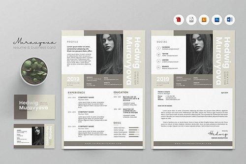 Creative CV Resume & Name Card PSD, DOCX, AI No.7
