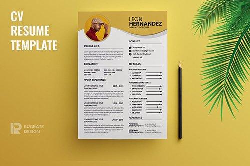 Minimalist CV Resume R35 Template
