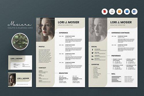 Creative CV Resume & Name Card PSD, DOCX, AI No.3