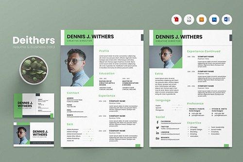 Creative CV Resume & Name Card PSD, DOCX, AI No.5