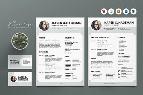 Creative CV Resume & Name Card PSD, DOCX, AI No.2