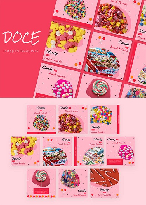 Doce - Instagram Feeds Pack