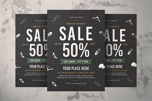 End of Month Sale Flyer