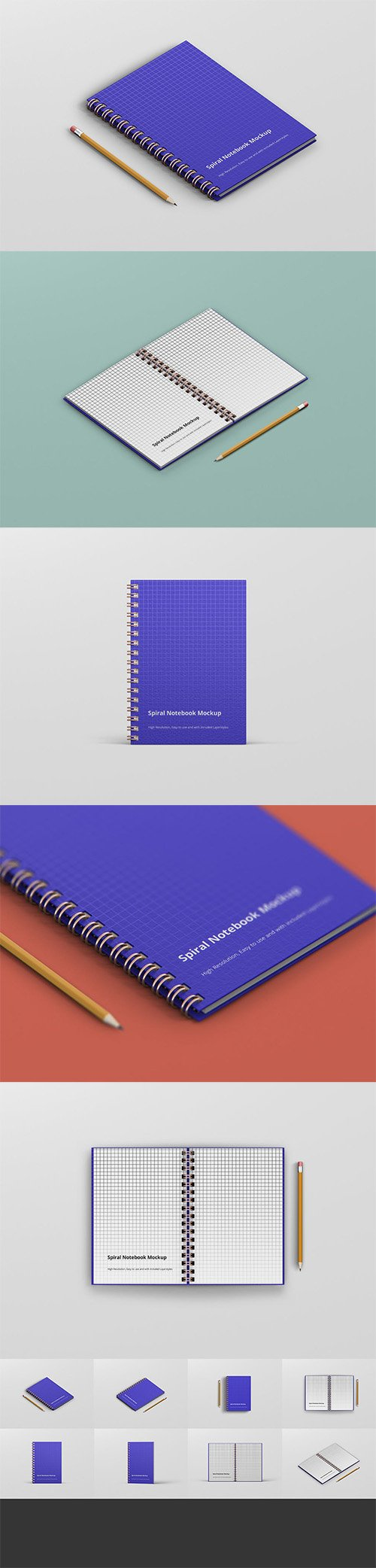 Spiral Ring Notebook Mockup