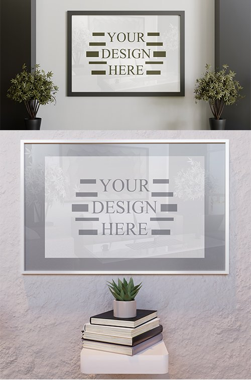 Black and White Wall Frame Mockup