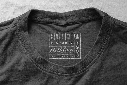 Logo Mockup T-Shirt Neck Label