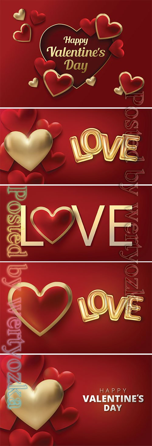 Valentines day vector background with heart # 6