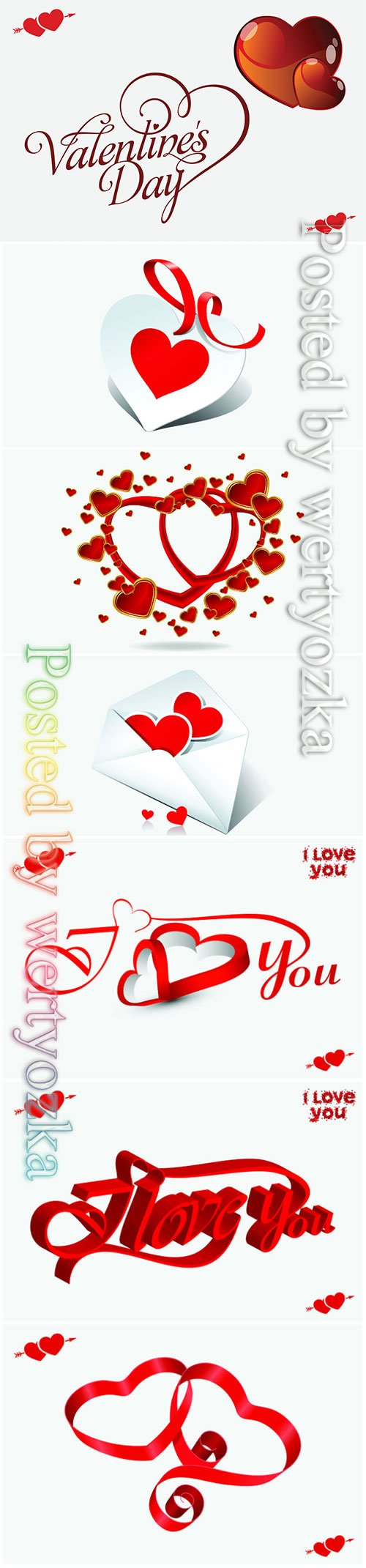 Valentines day vector background with heart # 2