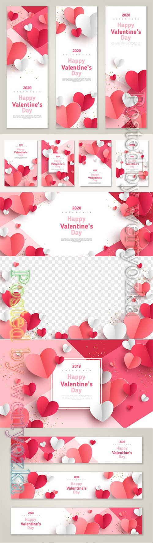 Valentines day vector background with heart # 3