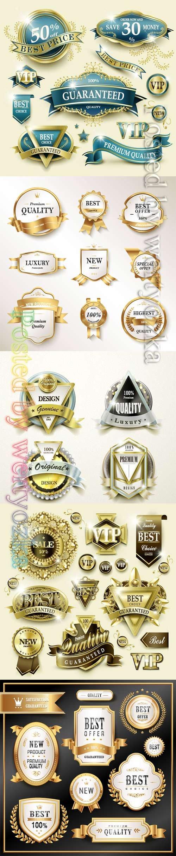 Vip golden frame label collection