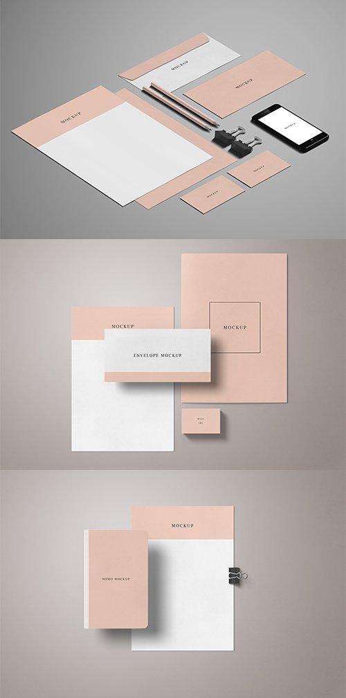 Minimal Stationery Mockup Set