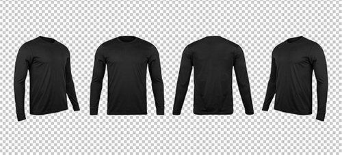Black Long Sleve T-Shirts Mockup
