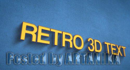 Retro 3D Text 235493