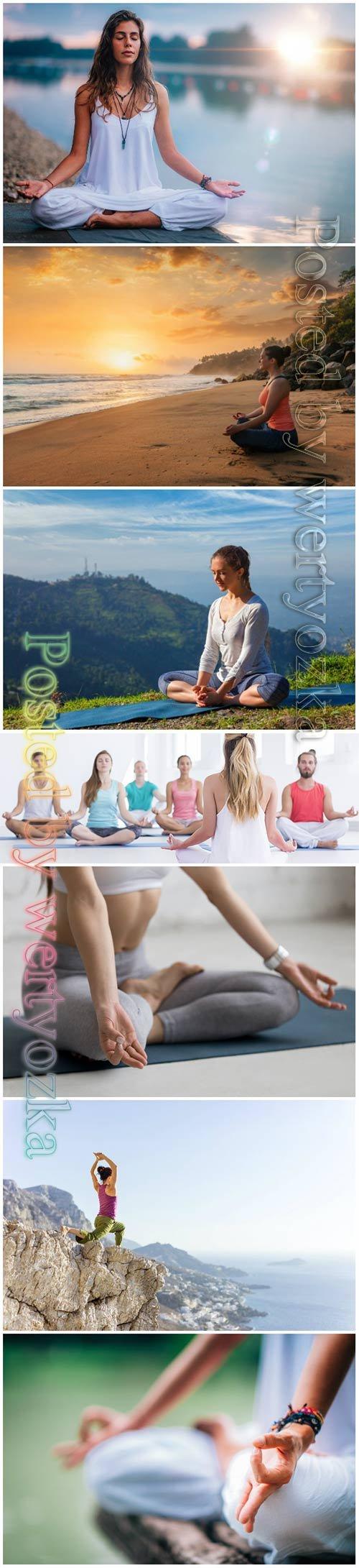Yoga beautiful stock photo