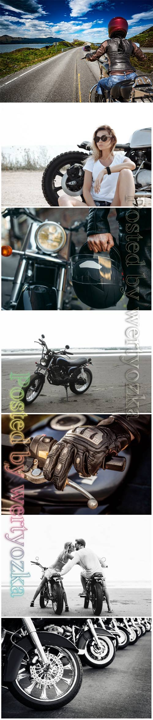 Motorcycles, biker beautiful stock photo