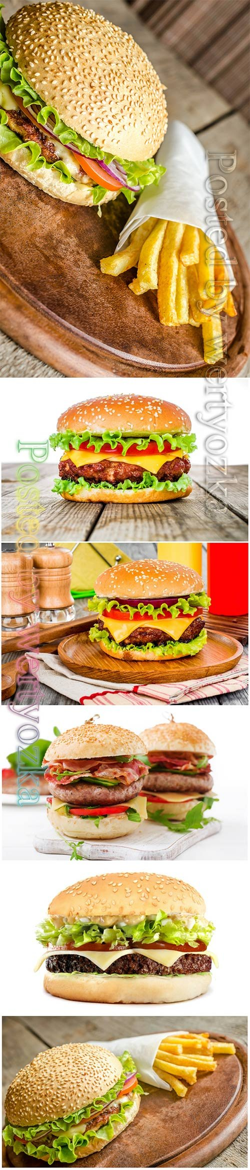 Cheeseburger, hamburger beautiful stock photo