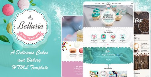 ThemeForest - Bellaria v1.0 - A Delicious Cakes and Bakery HTML Template - 25352966