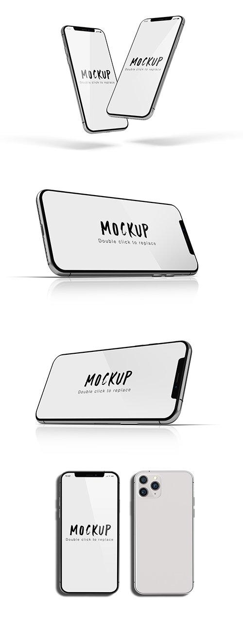 Set of Smartphone Mockup Isolated
