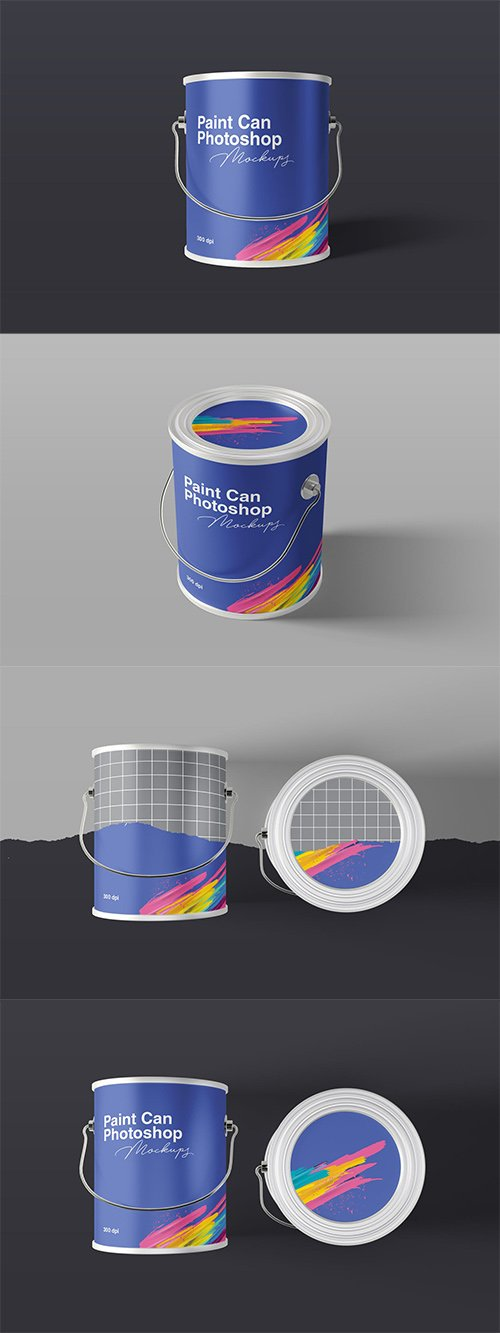 Paint Can Mockups