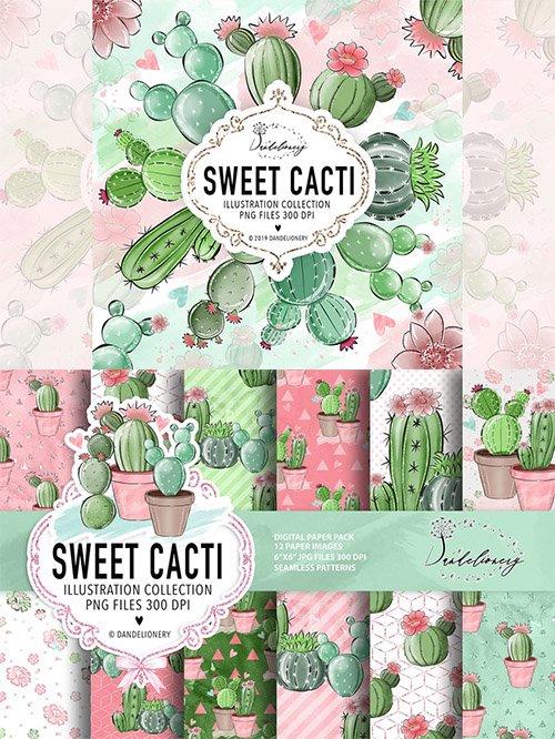Sweet Cactus Clipart