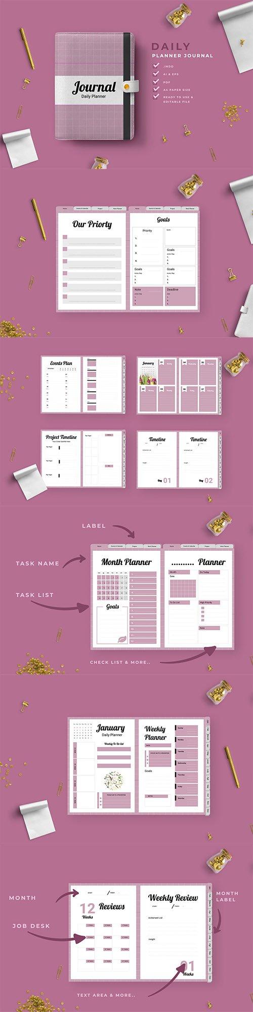 Kyra - Work Daily Planner Journal