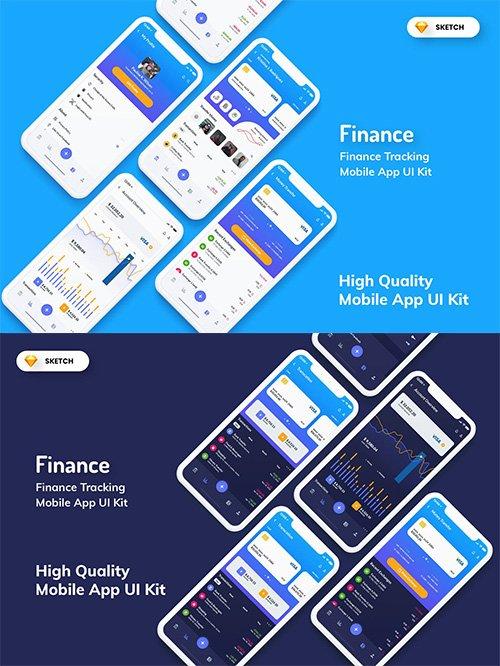 Finance Tracking Mobile App UI Kit