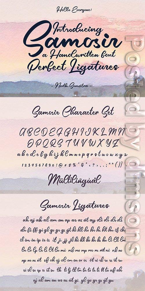 Samosir   Handwritten Font