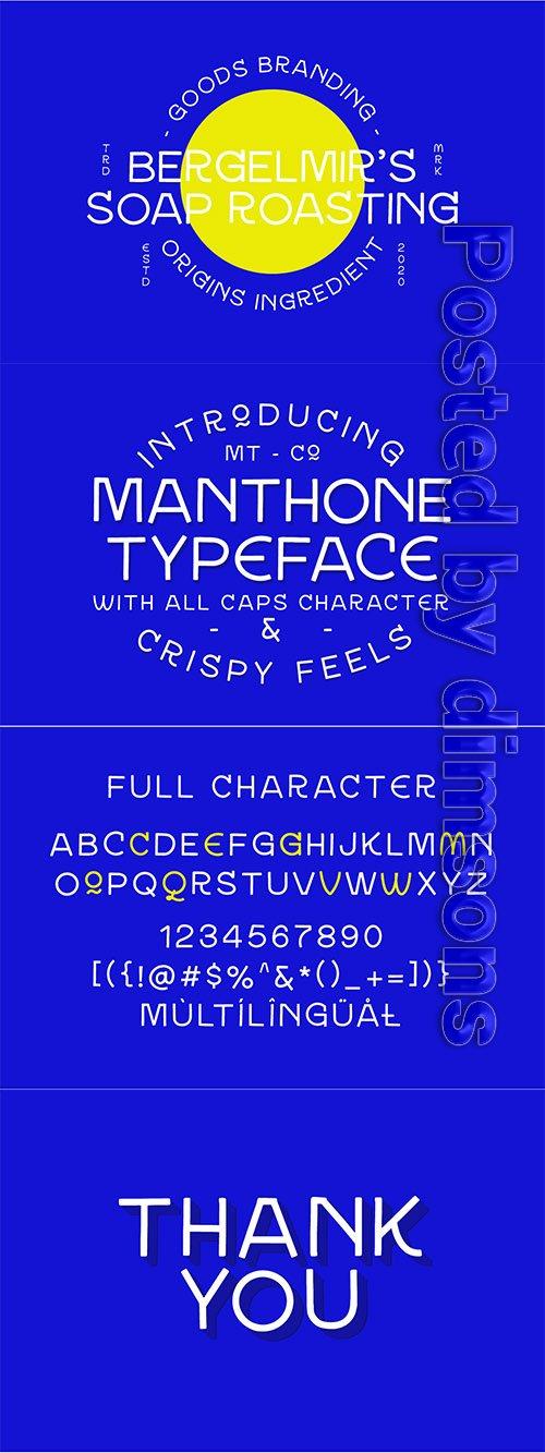 Manthone Typeface