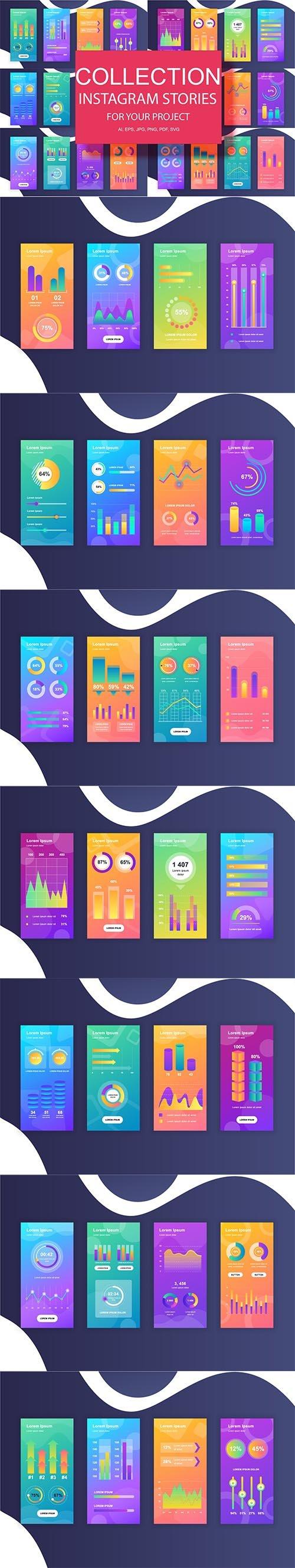 Social Media Instagram Stories Infographics Design