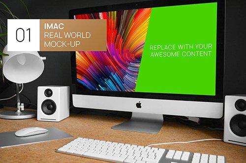 Modern Desk iMac Real World Mock-up