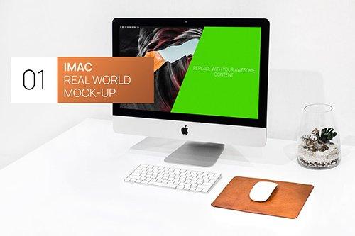 Minimalistic iMac Real World Mock-Up