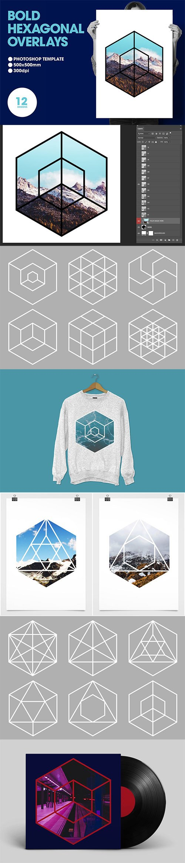 Bold Hexagonal Overlays