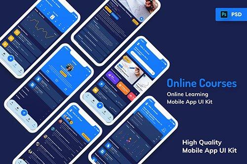 Online Courses Mobile App Dark Version