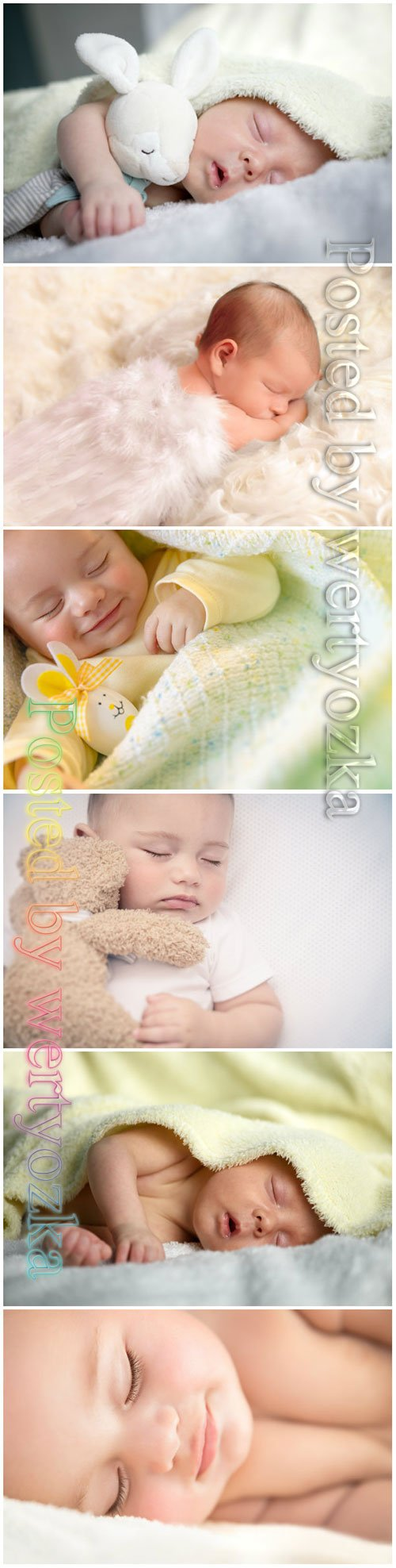 Cute little baby sleeping beautiful stock photo