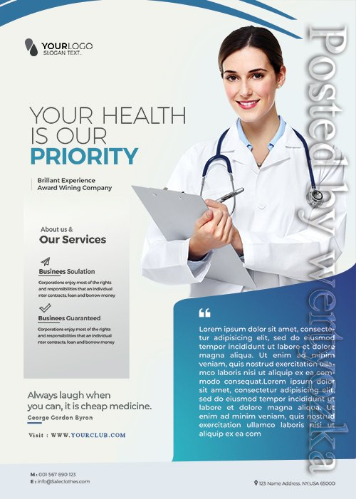 Medical Health - Premium flyer psd template