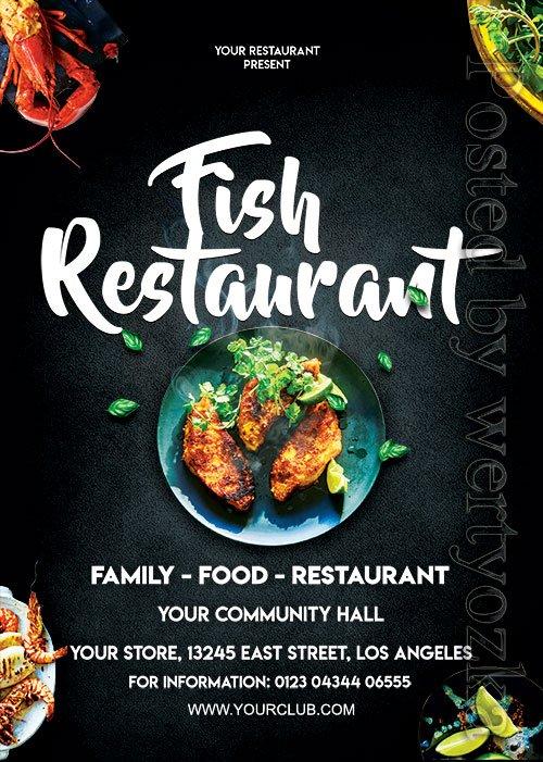 Fish Restaurant - Premium flyer psd template