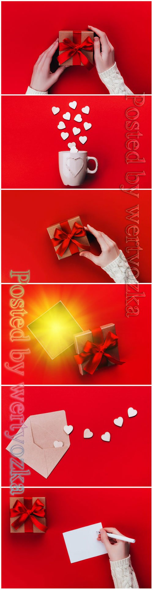 Valentines day greeting card beautiful stock photo