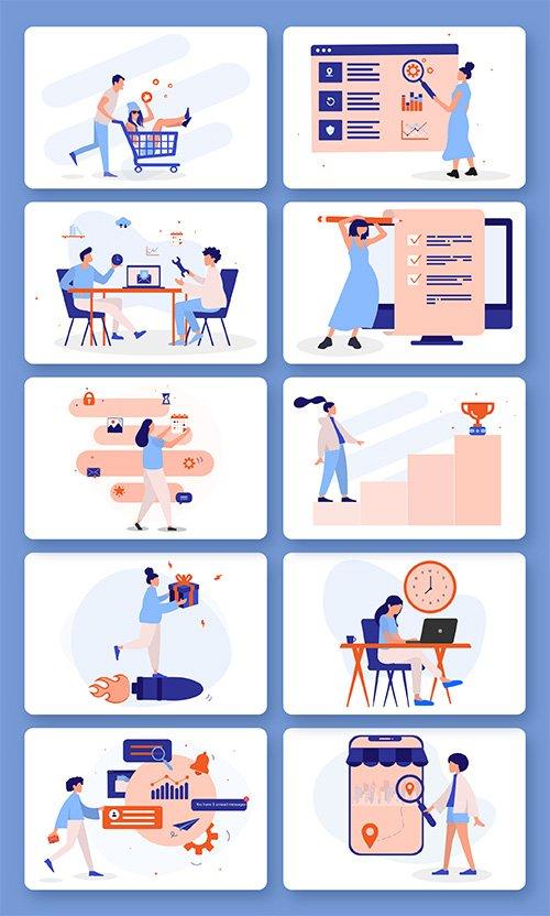Digital Marketing Illustrations