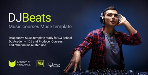 ThemeForest - DJBeats v1.0 - DJ Courses / Scratch School / Music Academy Responsive Muse Template - 21238703