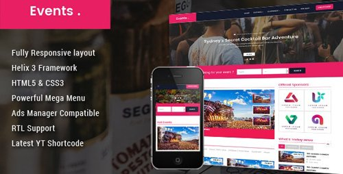 ThemeForest - Event v3.9.6 - Conference Joomla Template - 22142576